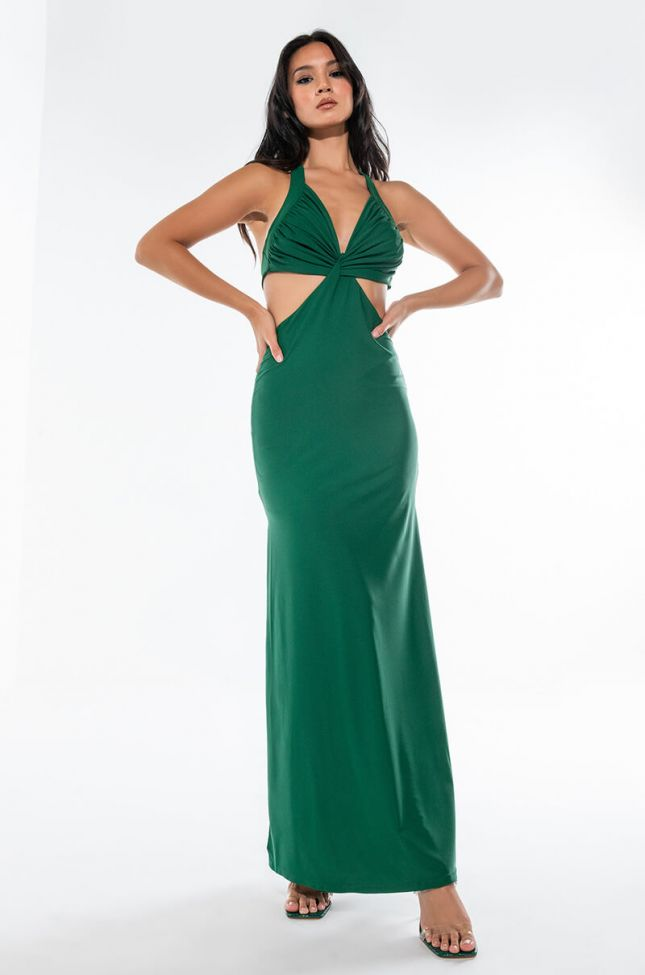NOT TODAY MAXI DRESS WITH HALTER TOP