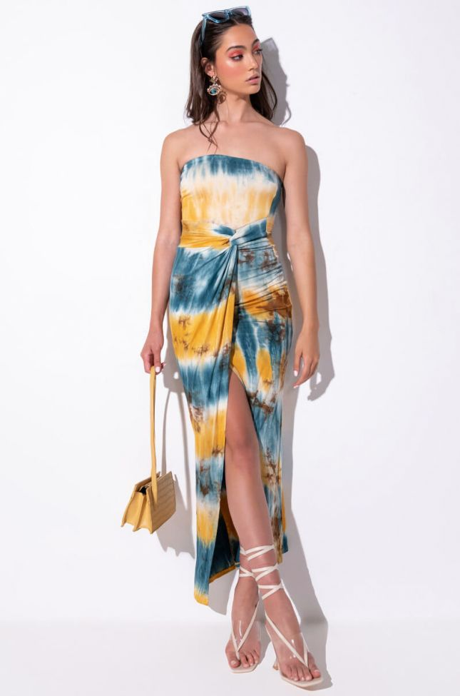Front View Nothing New High Low Maxi Tube Dress