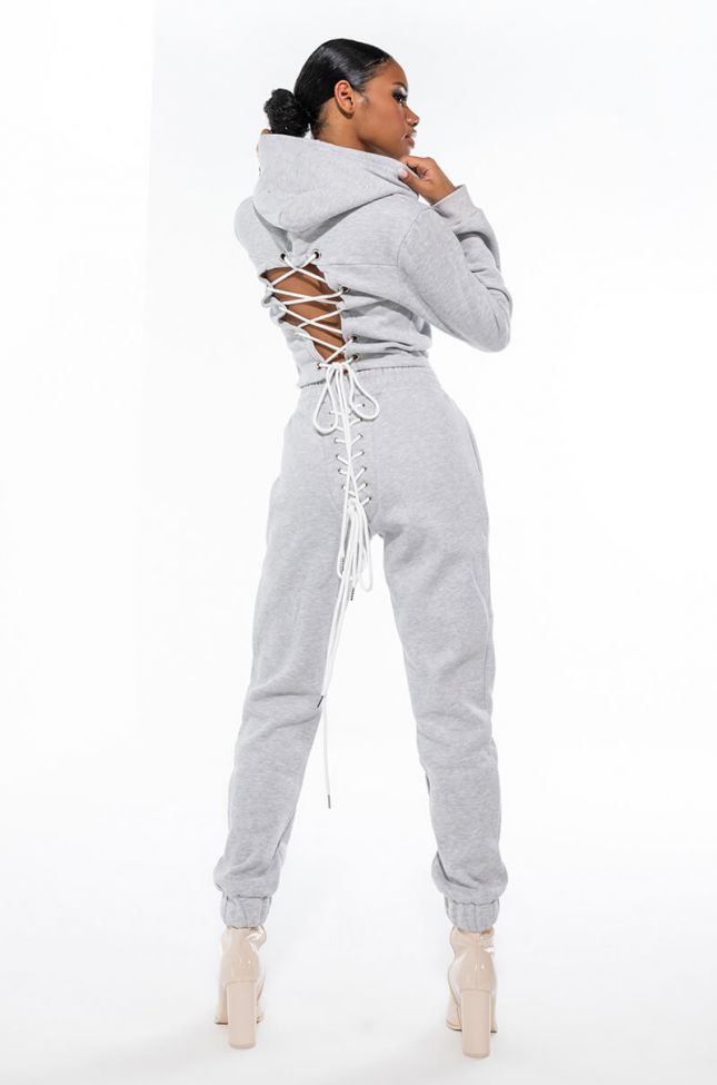 Extra View Nothing To Lose Lace Up Sweatpants