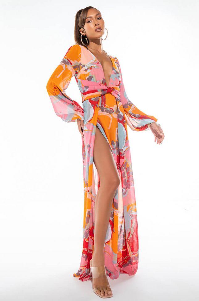 ON MY OWN HIGH SLIT MAXI DRESS