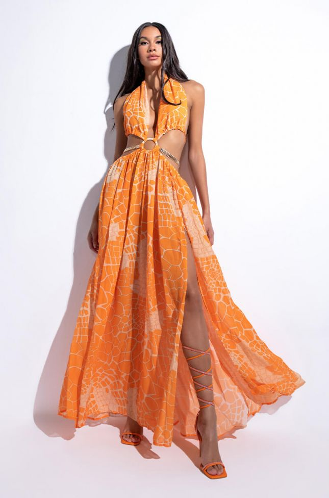 Front View On The Scene Maxi Dress With Cut Outs