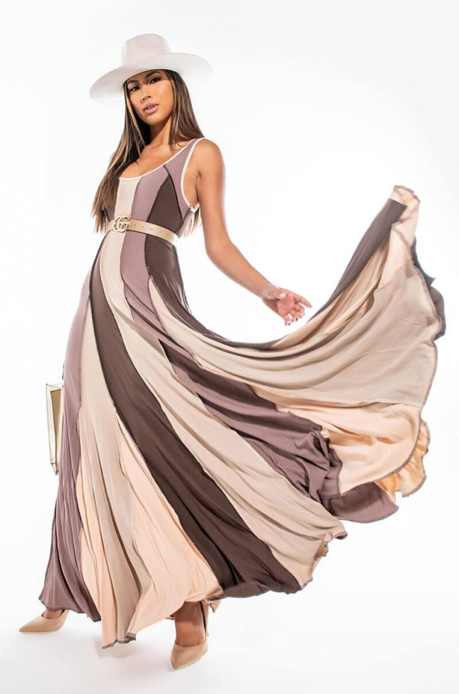 Front View One And Only Color Block Maxi Dress