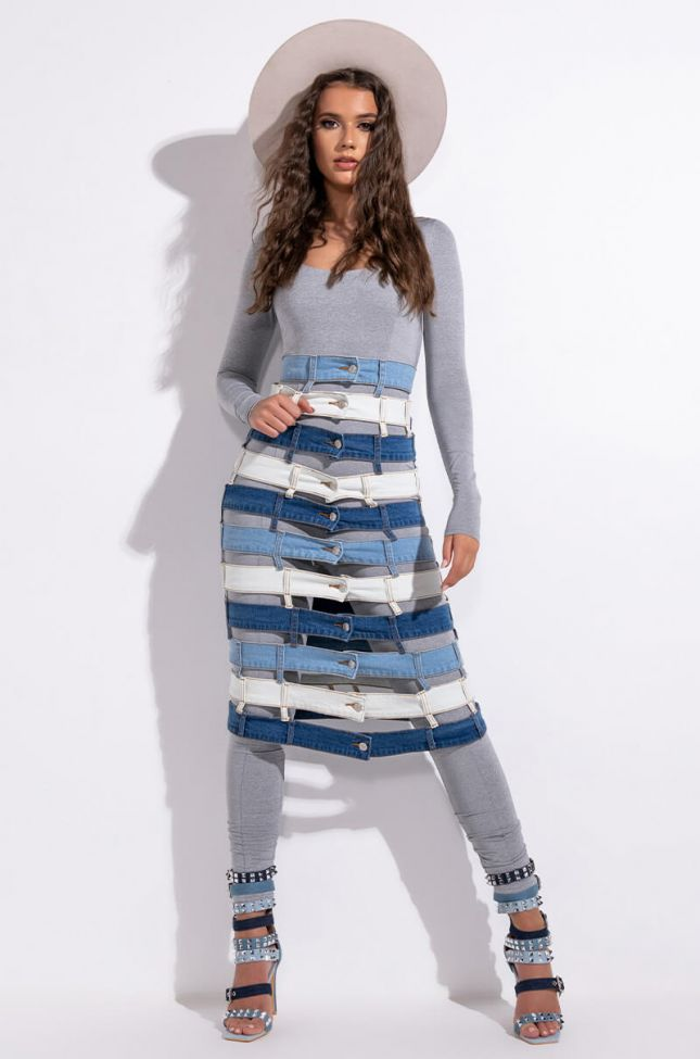 Extra View Open Your Mind Midi Skirt