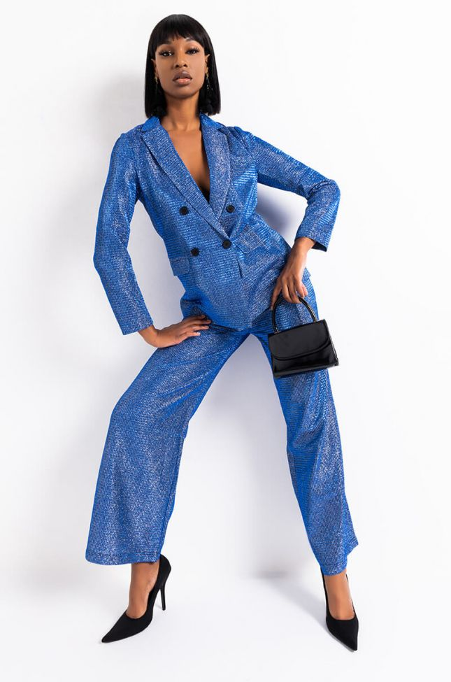 Full View Over The Top Dazzling Trousers in Blue