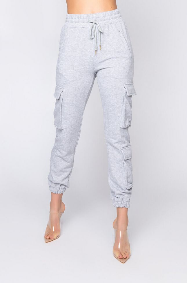 Front View Paxton Lux Basix Jogger in Heather Grey