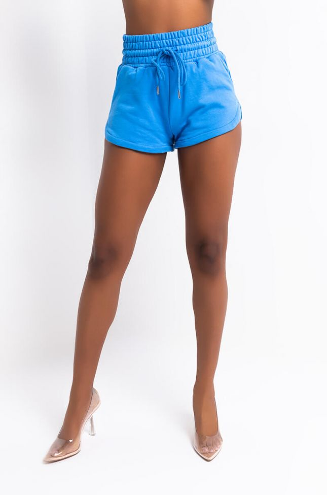 Front View Paxton Lux Basix Short in Blue
