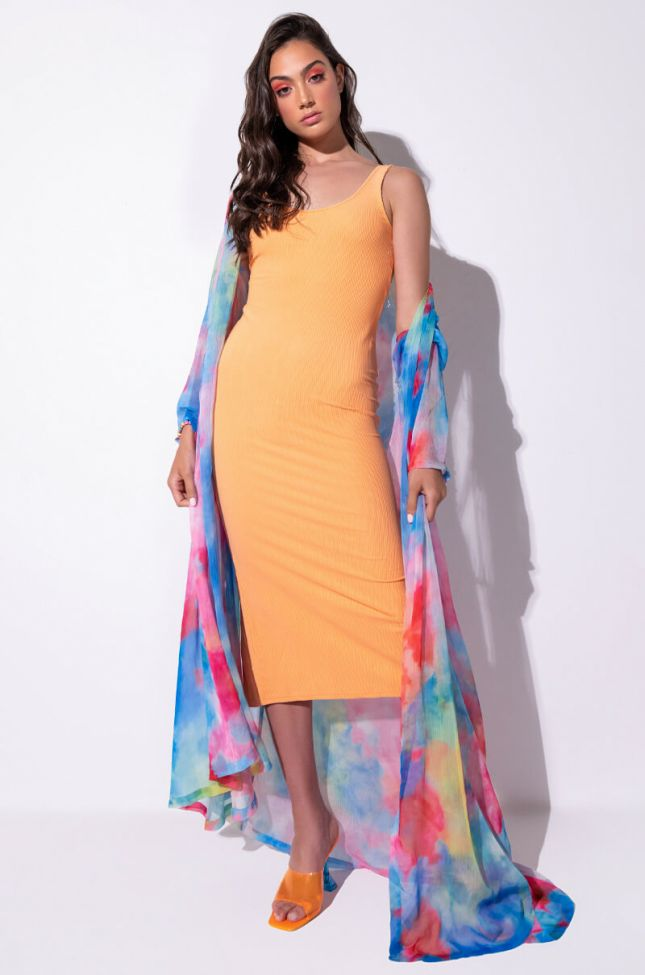 Front View Paxton Yes Girl Midi Dress