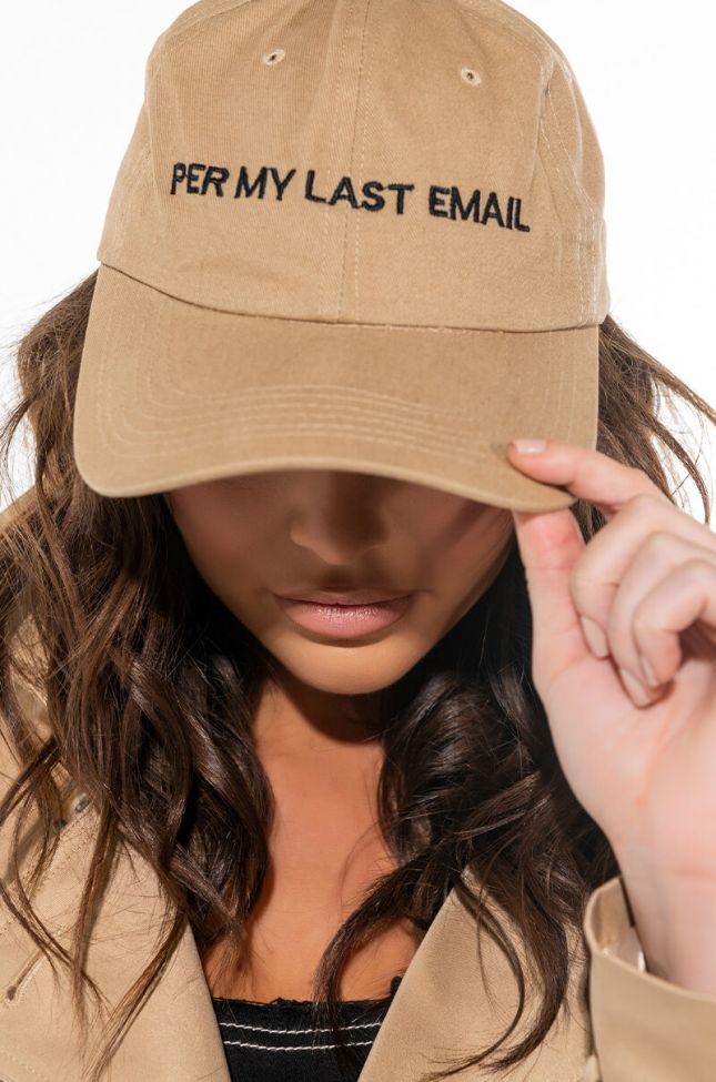 Front View Per My Last Email Hat