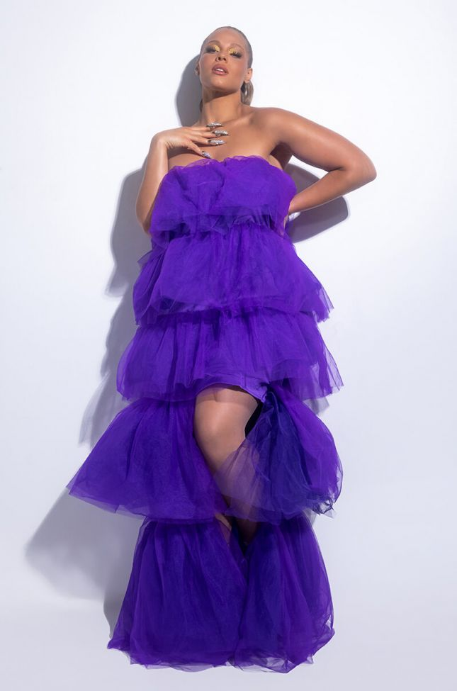 PLUS ADDICTED TO THIS TULLE HIGH LOW DRESS