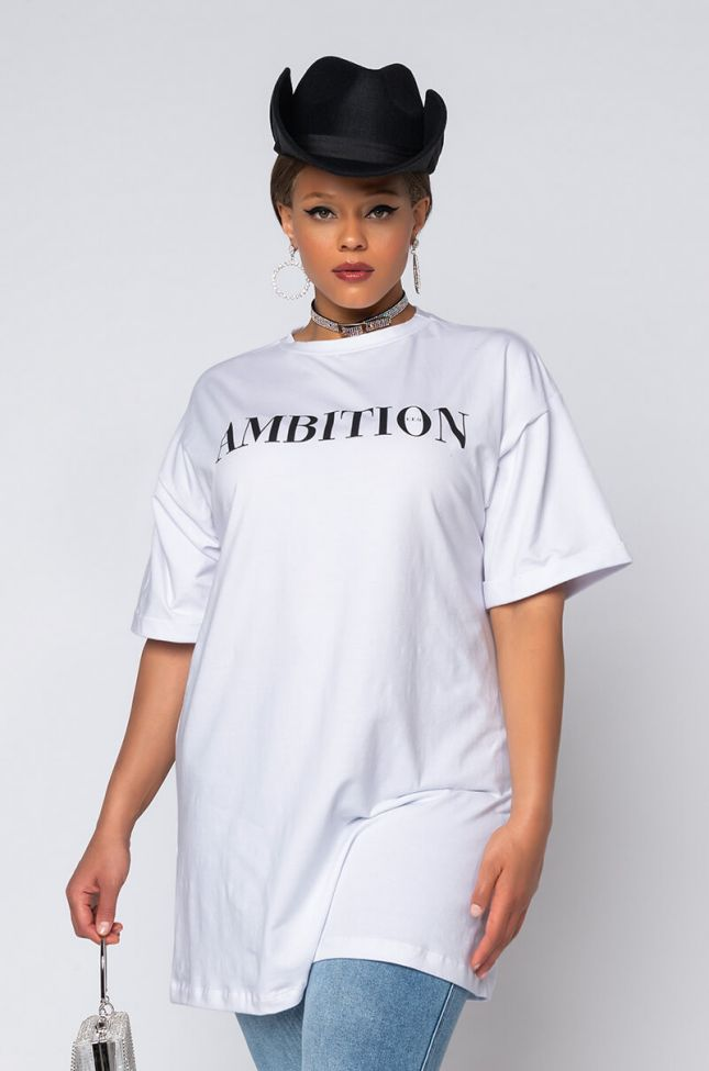 PLUS AMBITION T SHIRT DRESS