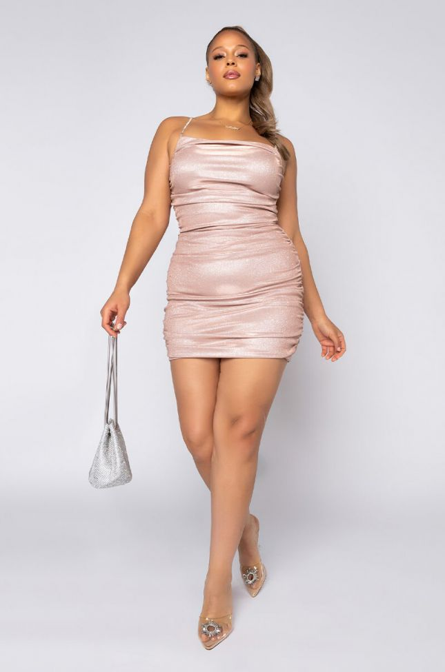 Plus Being Fab Is Easy For Me Mini Dress in Pink