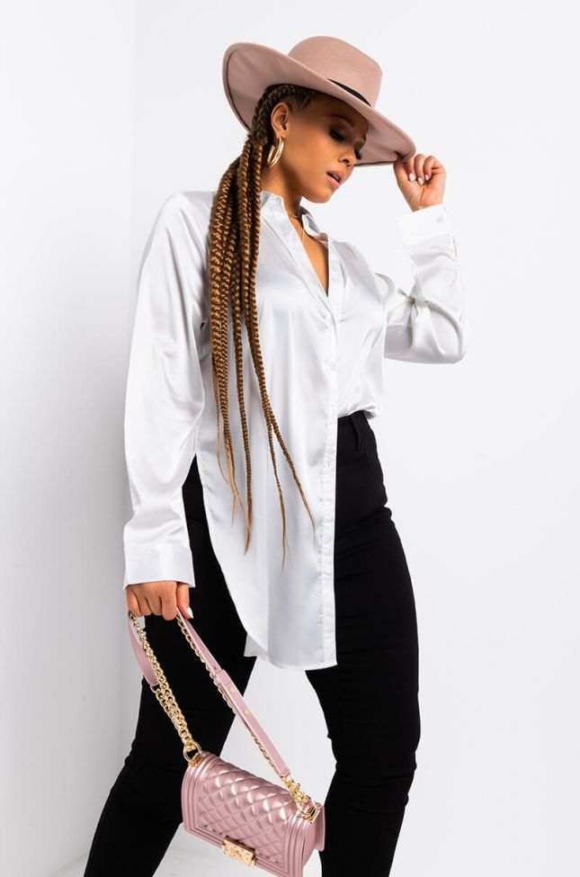Front View Plus Everyday Blouse in White
