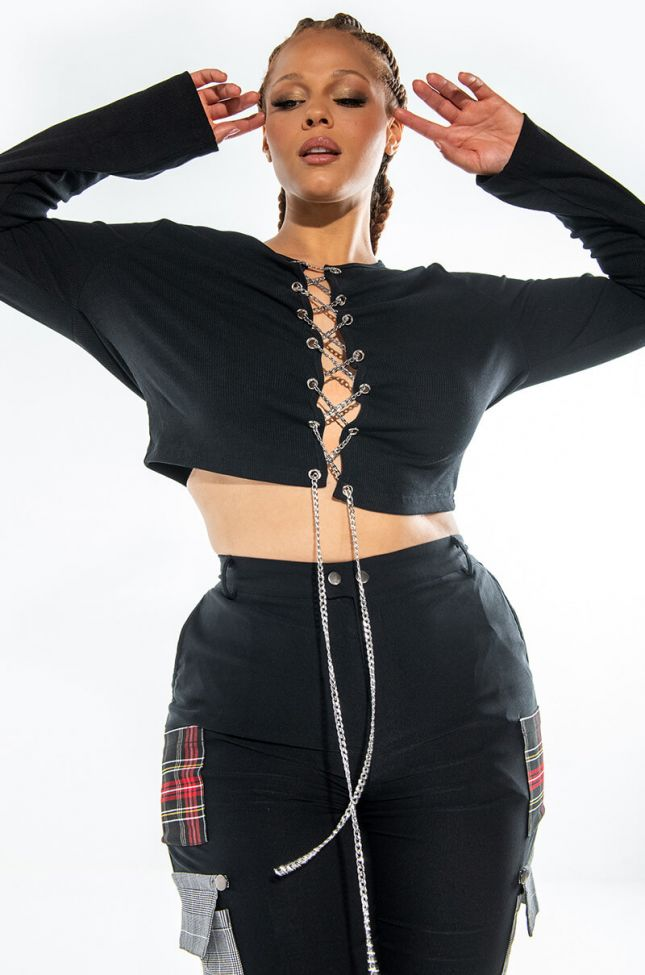 PLUS JUST LIKE THAT THICK CHAIN LONG SLEEVE TOP