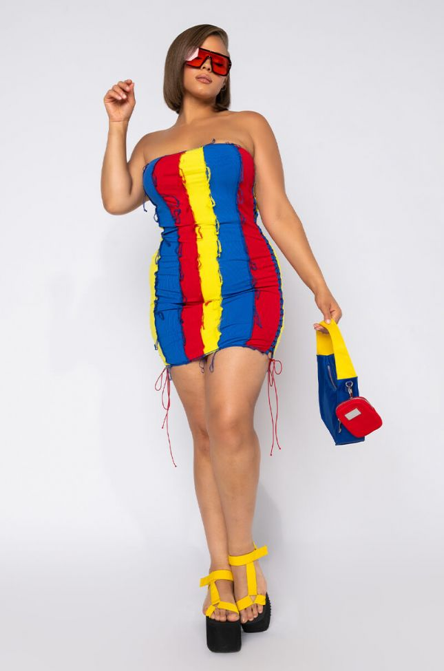 PLUS MY TIME IS VERY PRICEY TUBE MINI DRESS