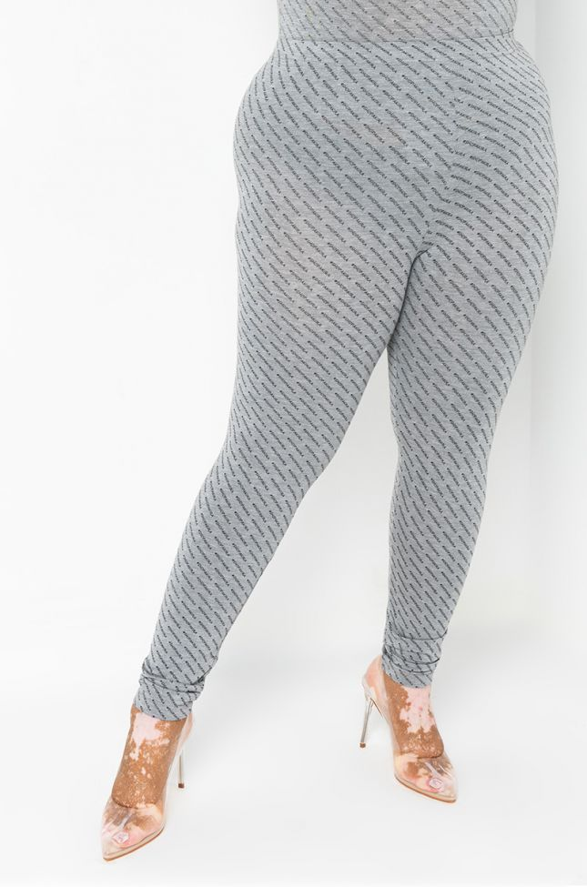 Front View Plus Shopakira Legging in Grey
