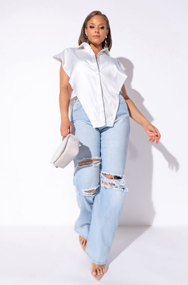 PLUS SIZE ALMOST OVER HIGH WAIST RELAXED JEANS