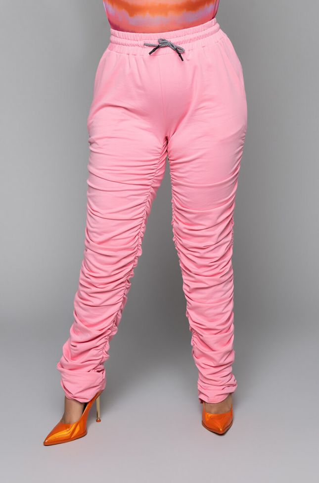 PLUS SIZE BOO STACKED JOGGER PANTS