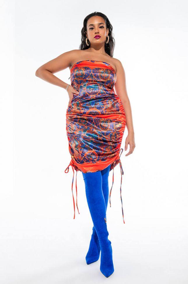 Extra View Plus So High Class Satin Mini Tube Dress