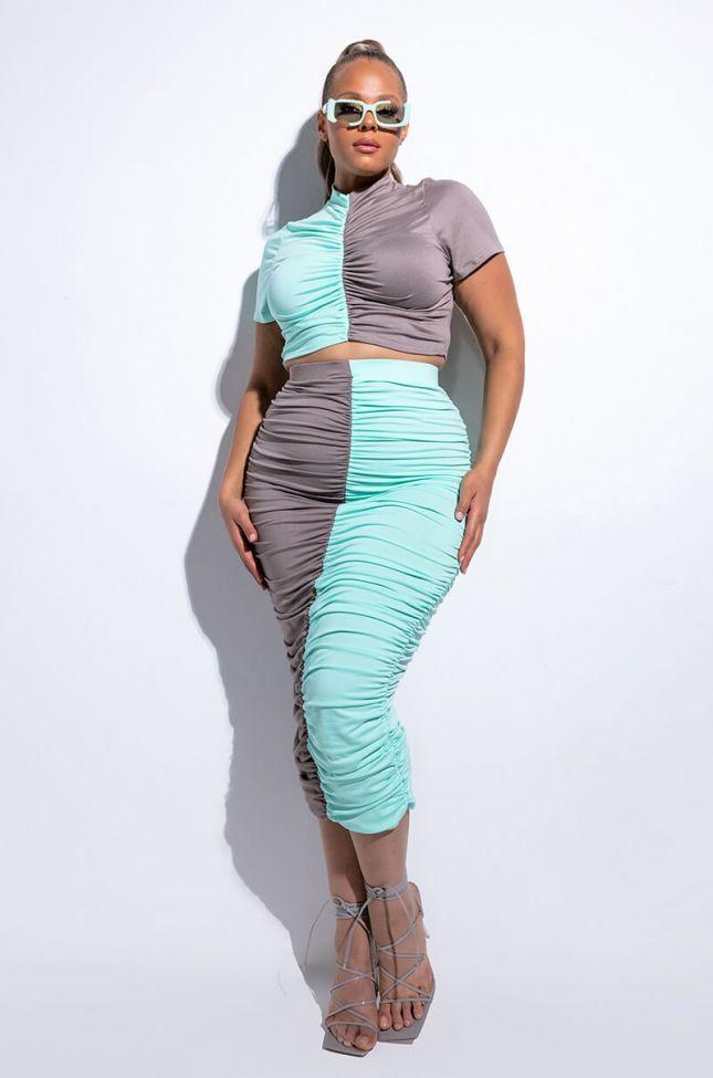 Full View Plus Split Feelings Midi Skirt