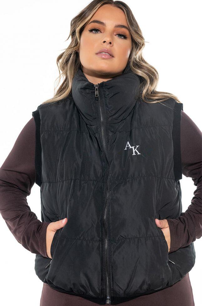 Front View Plus The Ak Crop Puffer Vest