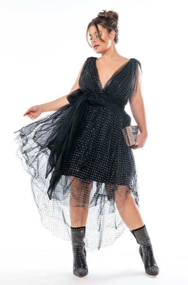 PLUS WOKE UP LIKE THIS MINI TULLE DRESS
