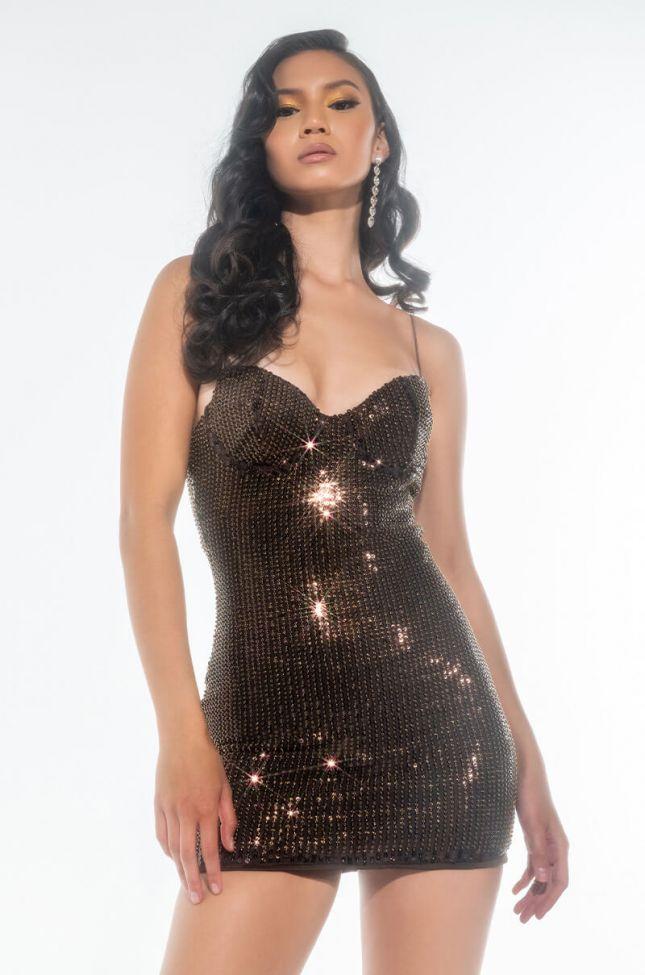 Front View Pop That Ish Sequin Mini Dress