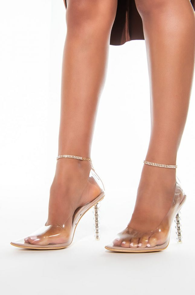Front View Precious Rhinestone Anklet