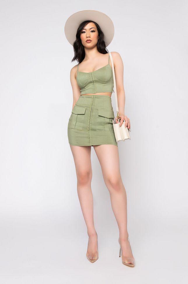 Full View Pretty Girl Rock Skirt in Light Green