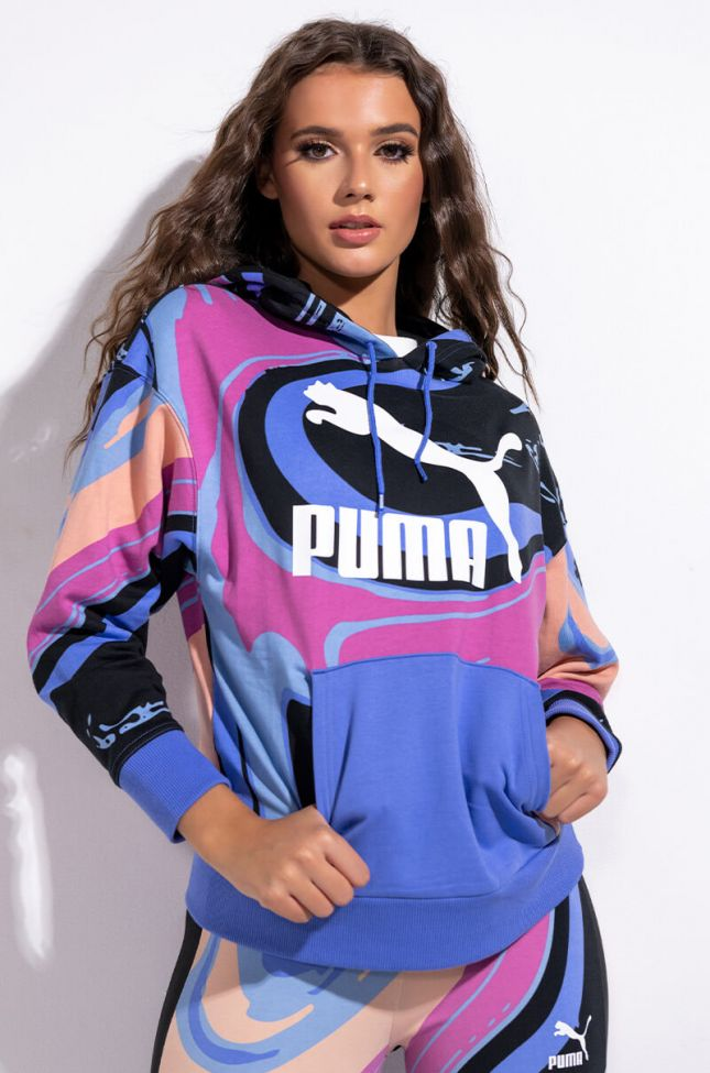Front View Puma Marbled Aop Hoody