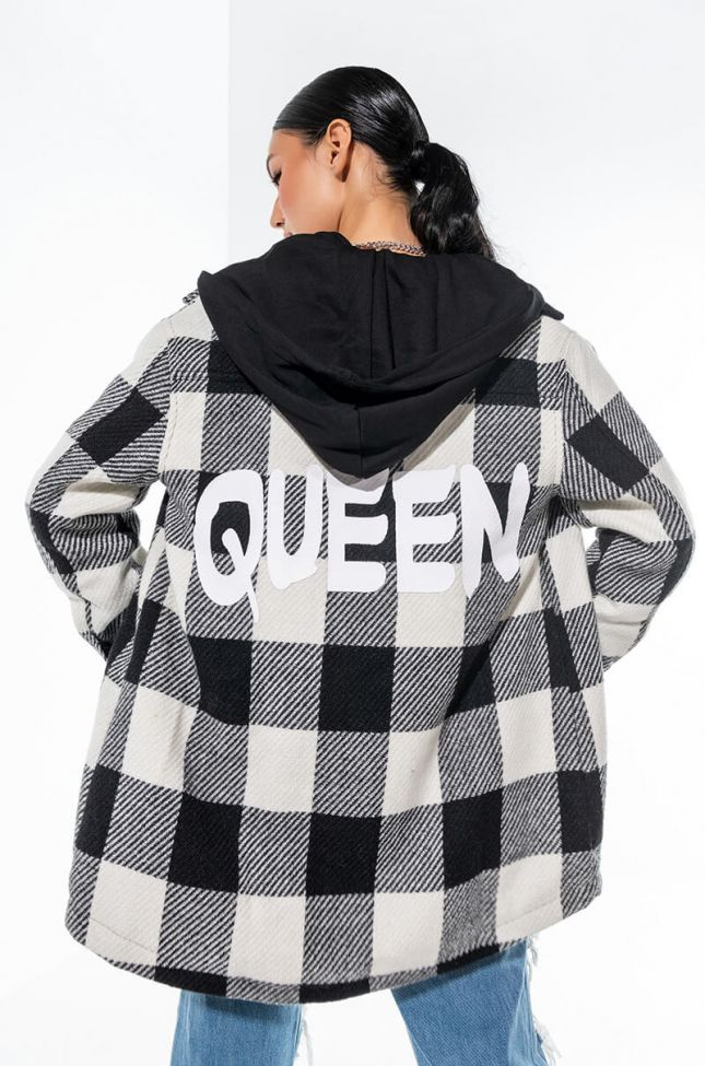 QUEEN OF EVERYTHING HOODED JACKET