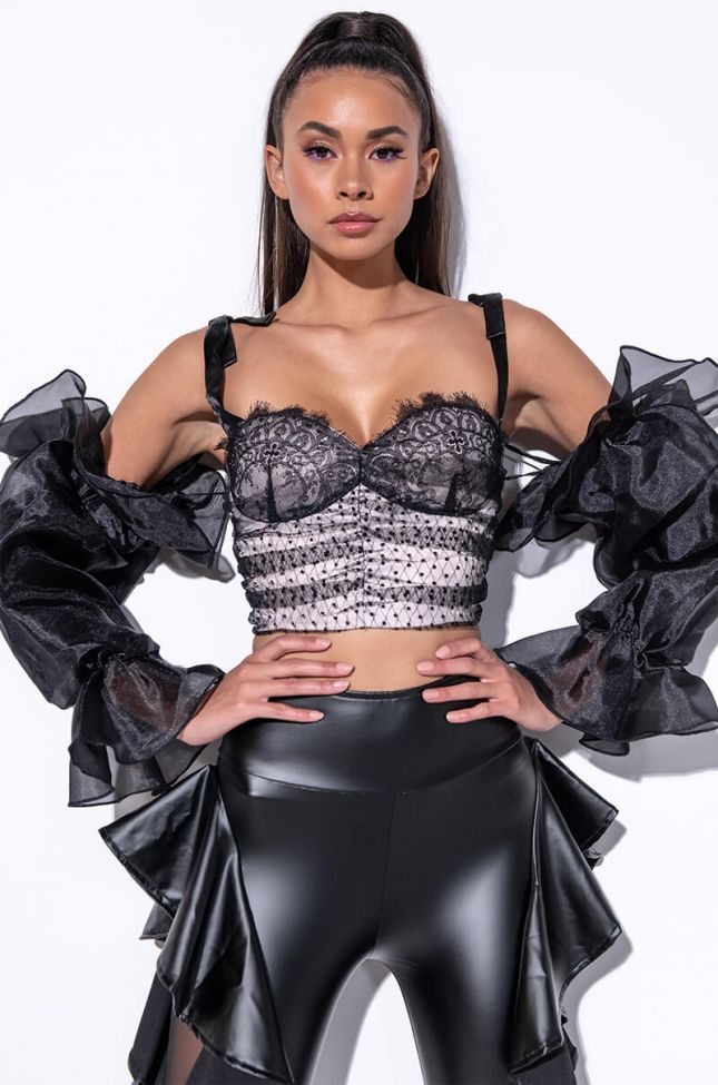 Front View Rica Rica Off The Shoulders Fashion Blouse