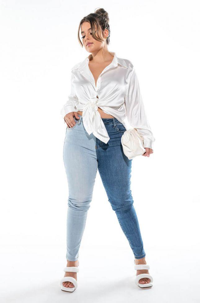 Extra View Right Or Left High Rise Skinny Jeans