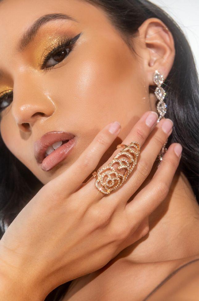 ROSE KNUCKLE RING