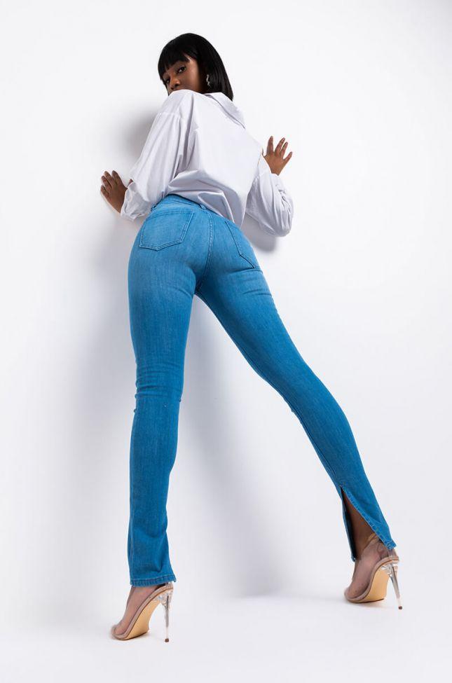 Ruby High Rise Skinny Jeans in Light Blue Denim