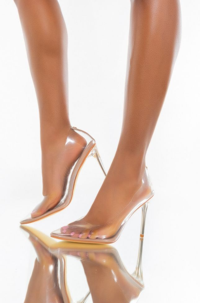 SEE THROUGH ALL THE WAY SEXY PUMPS