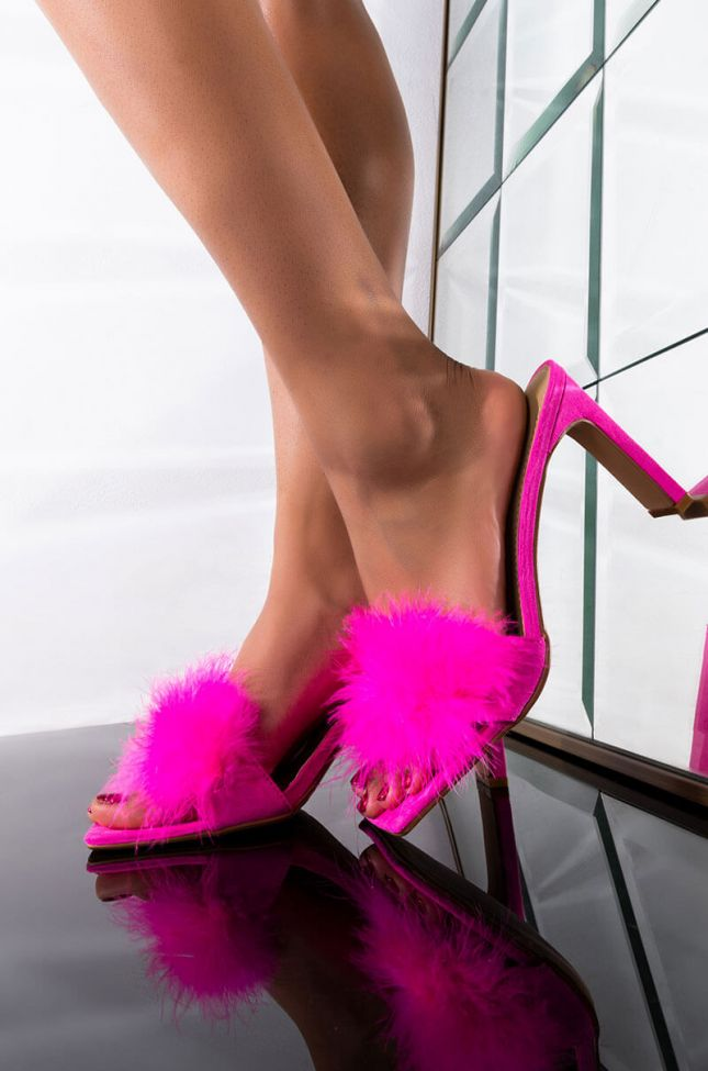 Front View She Bossy Sandal in Pink