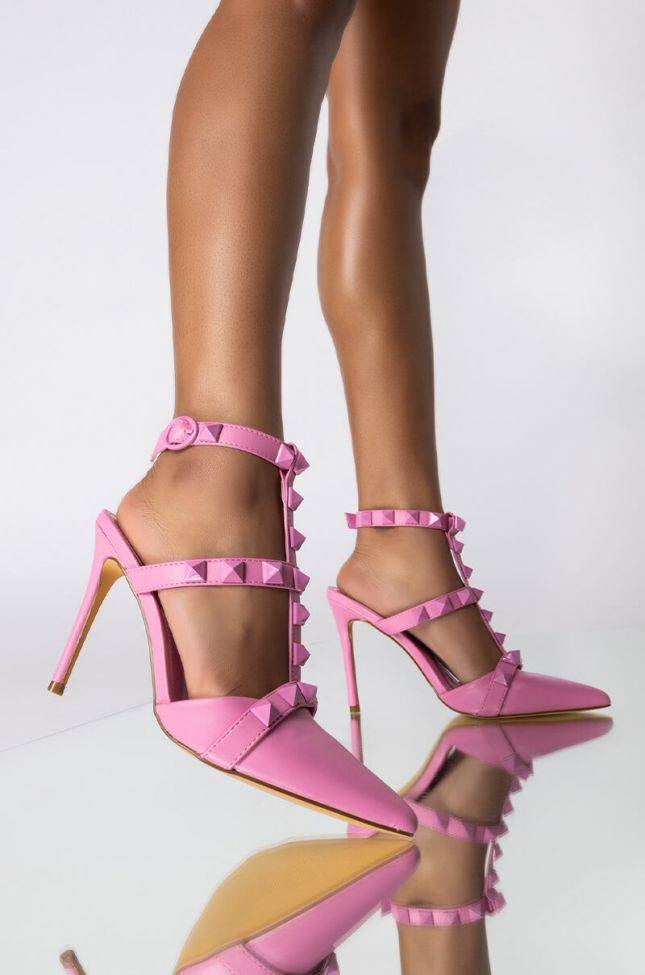 Front View Shoes Were Made For Walkin Stiletto Pump in Pink