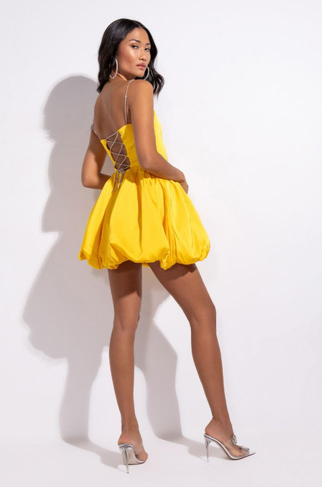 Extra View Show Out Babe Mini Bubble Skirt Dress
