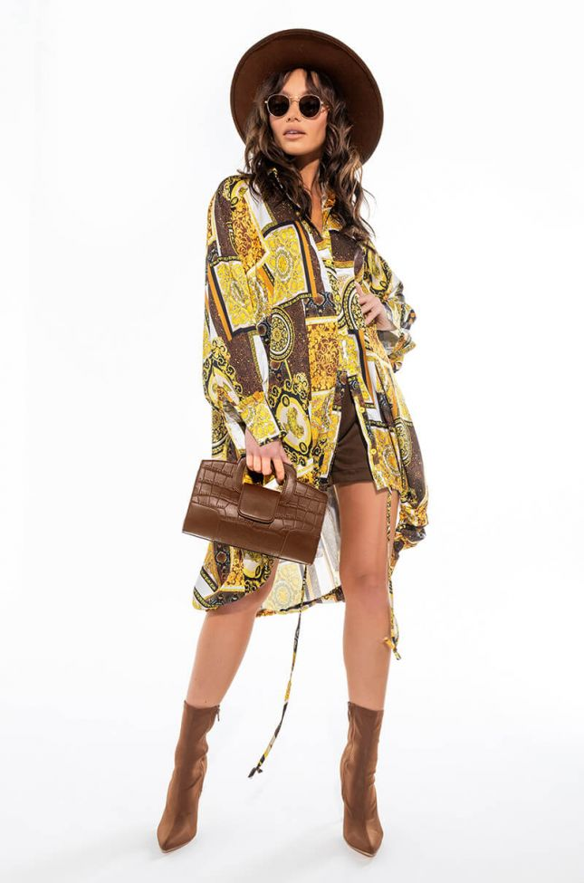SHOW YOU HOW OVERSIZED BUTTON UP DRESS