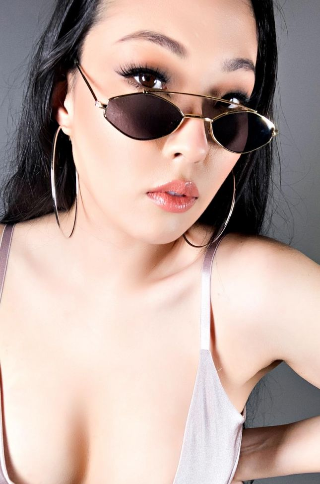 Front View Small Favors Sunglasses in Black