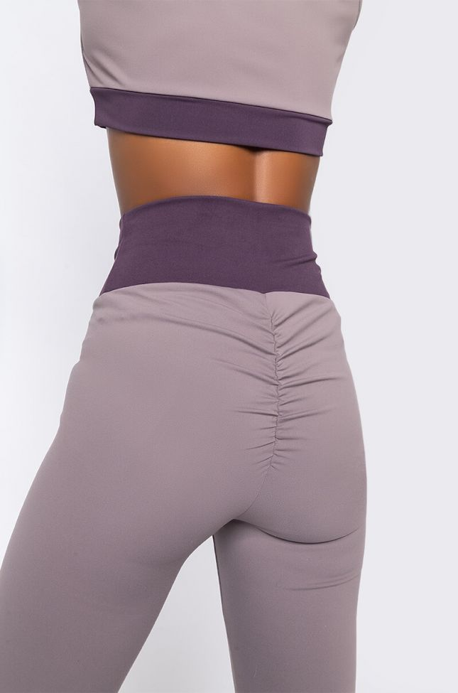 Detail View Snatched Version 2.0 High Waisted Legging in Purple