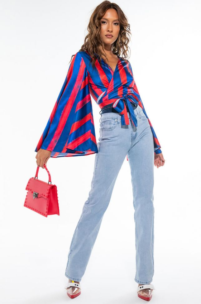 Extra View So Fetch Double Waist Straight Leg Jeans
