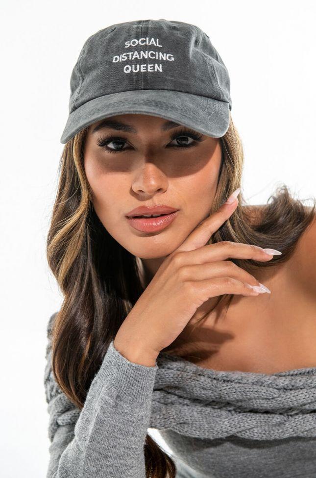 Front View Social Distancing Queen Hat