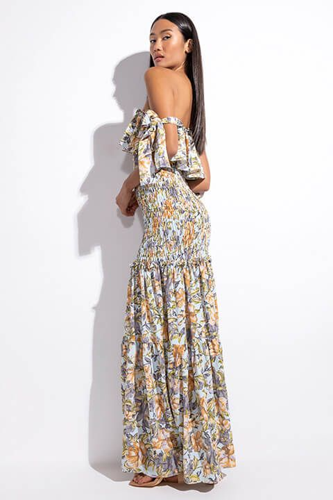 Front View Something About Her Maxi Floral Dress