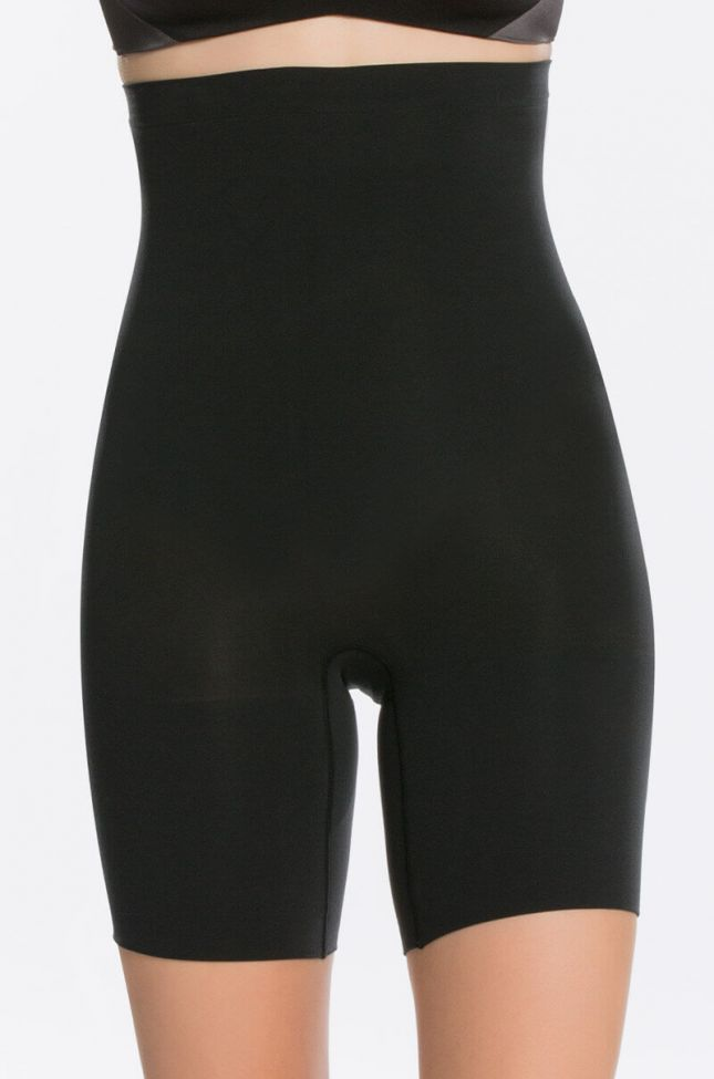 Front View Spanx Higher Power Short in Black