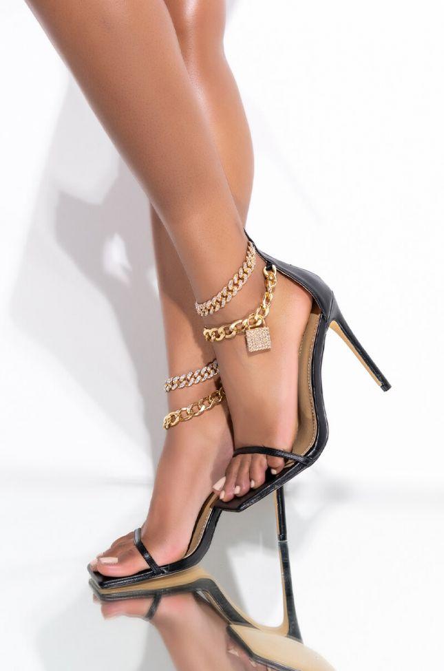 Front View Spoil Me Stiletto Sandal
