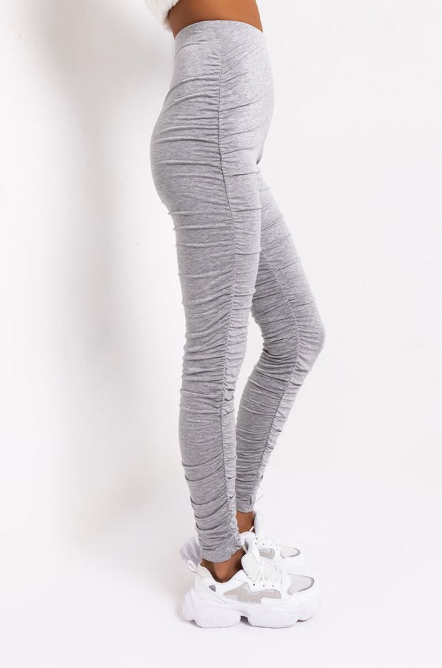 Side View Stack It Up Again Stacked Leggings in Grey