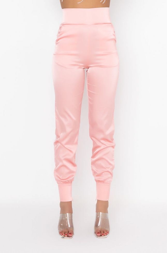 Front View Stars In The Sky Satin Pants