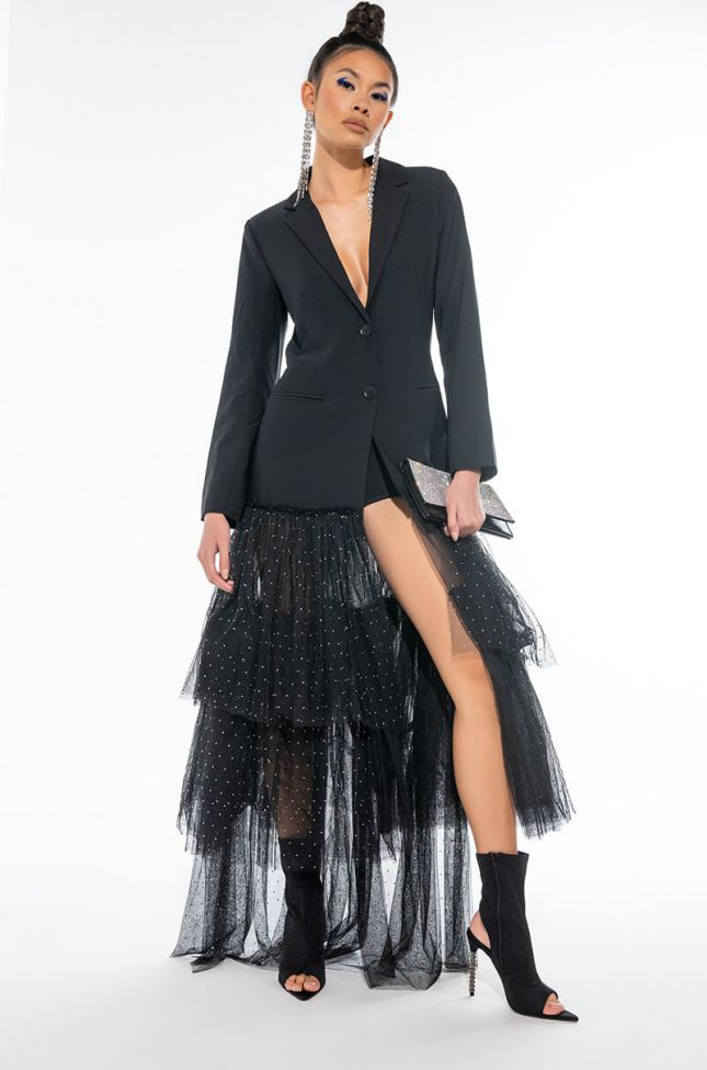 STEP OUT AND WALK TULLE TRENCH BLAZER