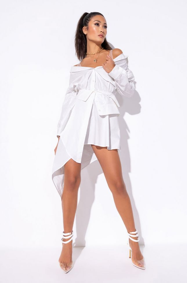 Sweet To You Off The Shoulder Dress in White